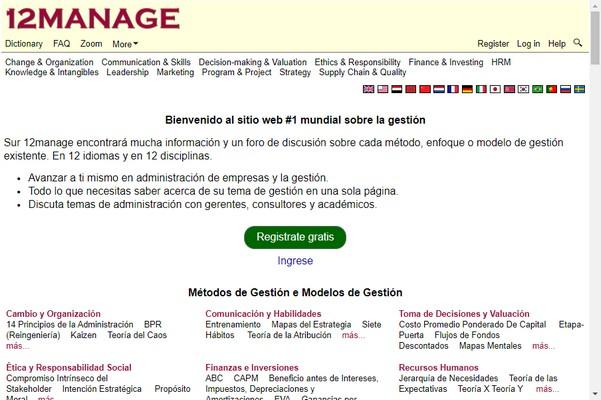 12Manage Centros de Conocimiento sobre Gestión