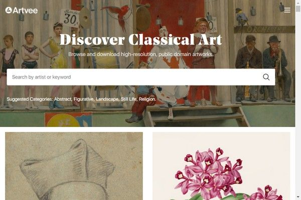 Descargue miles de obras de arte en alta resolución