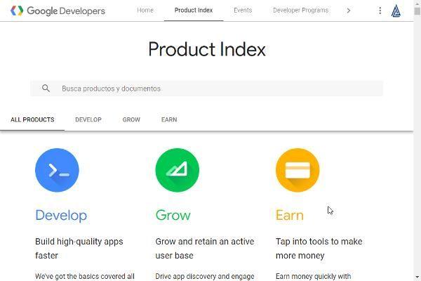 Centro para Desarrolladores de Google