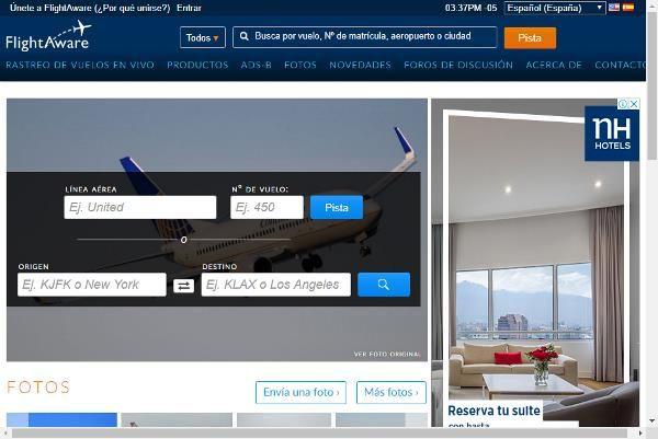 Seguimiento y rastreo de vuelos