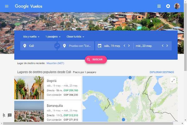 Buscador de Viajes de Google