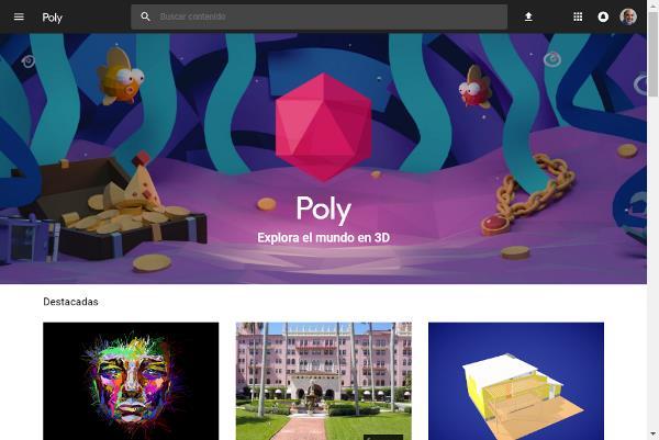 Poly: Plataforma de Objetos 3D de Google