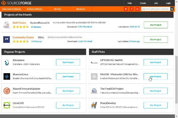 SourceForge: más de 500,000 proyectos de software libre
