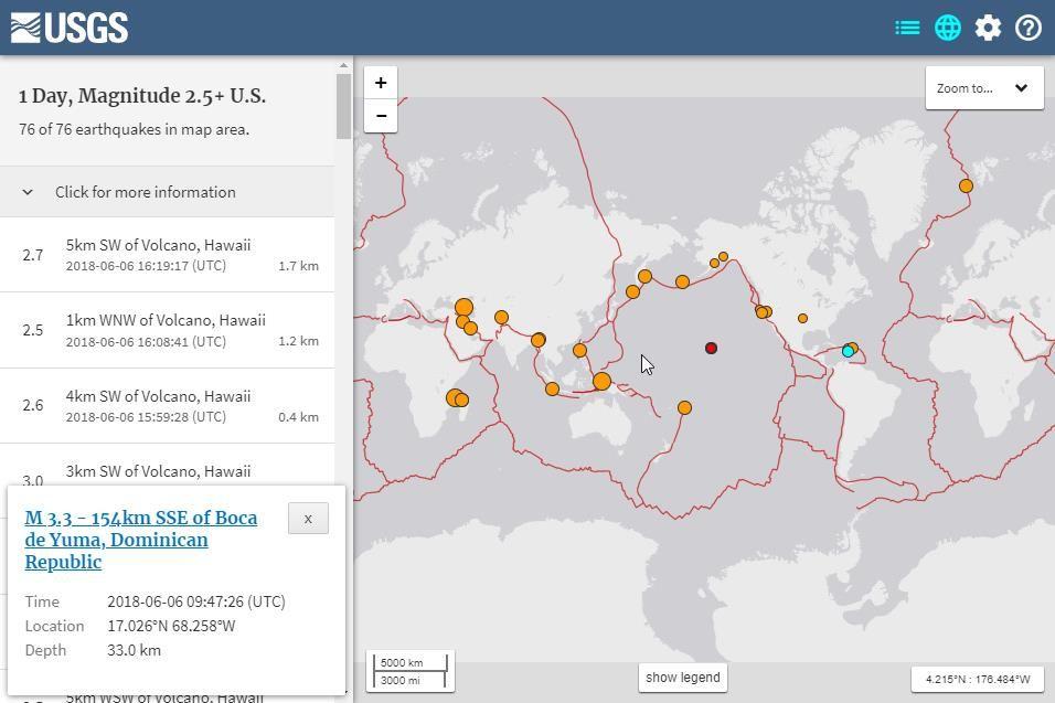 Terremotos y temblores recientes