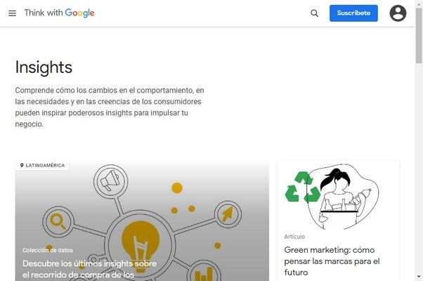 Estadísticas de mercado a partir de la información de Google