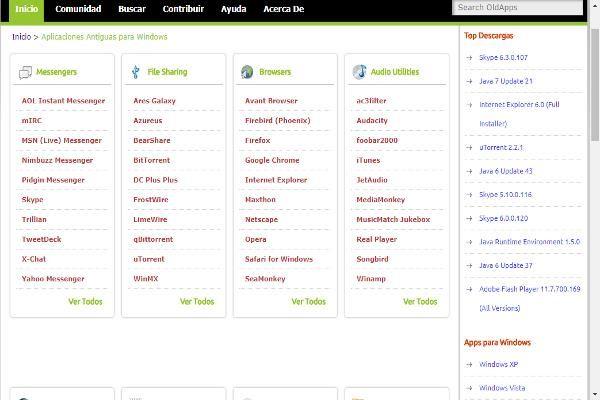 Versiones Anteriores de Software